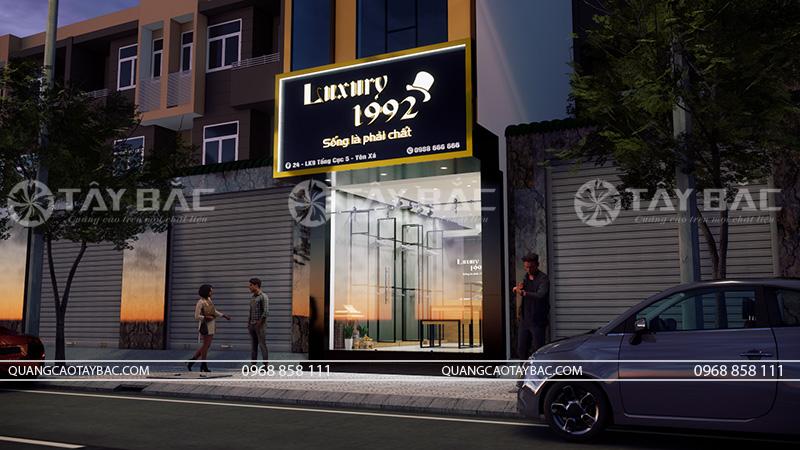 thiết kế biển quảng cáo và nội thất shop thời trang 1992 Luxury