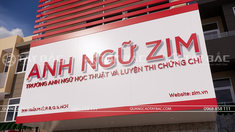bảng hiệu trung tâm anh ngữ Zim