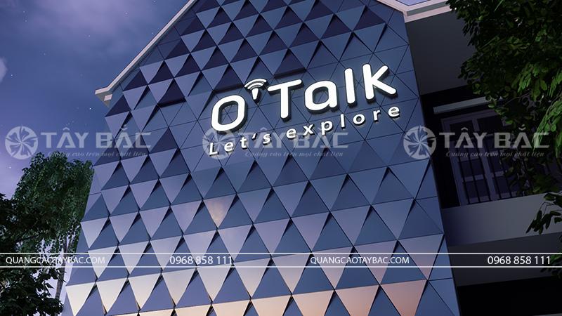 Biển quảng cáo trung tâm tiếng anh O'talk